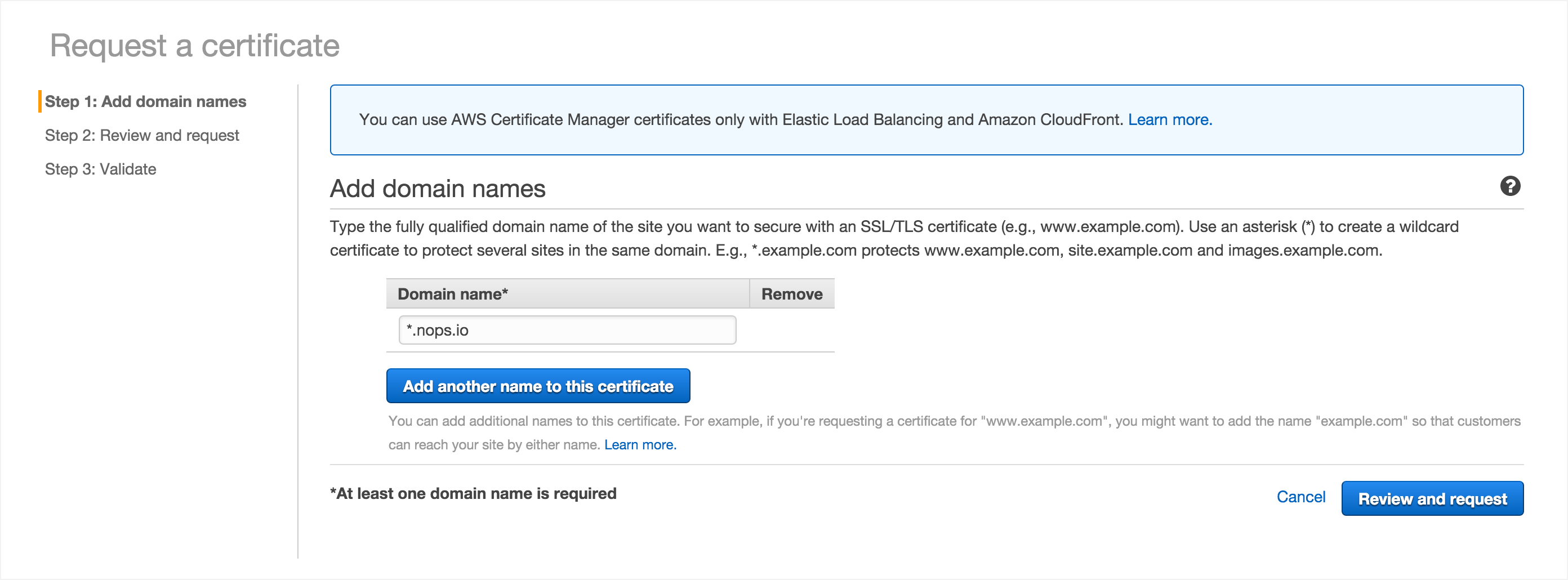 Configuring cloudfront to use acm amazon certificate manager after you request the certificate an email will be sent to the registered owner for the domain xflitez Choice Image